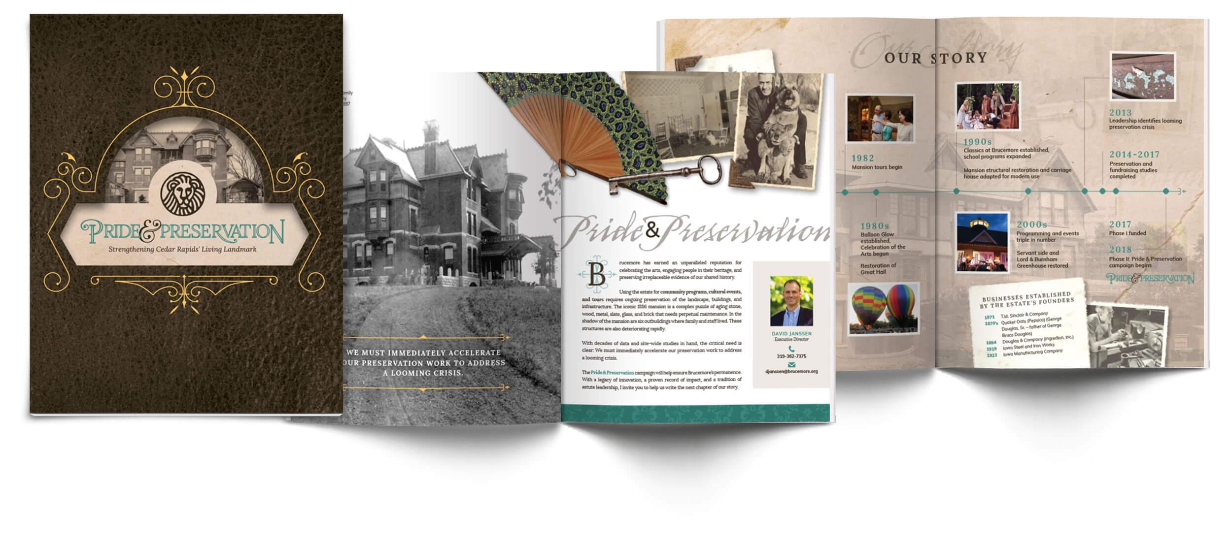 Branded Brucemore preservation booklet