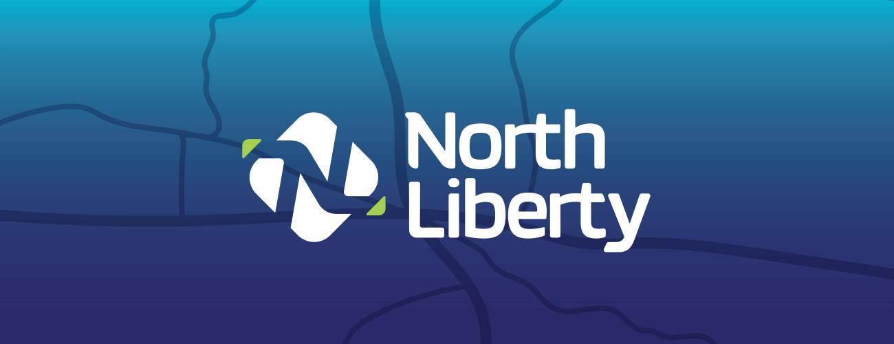 North Liberty portfolio header with logo